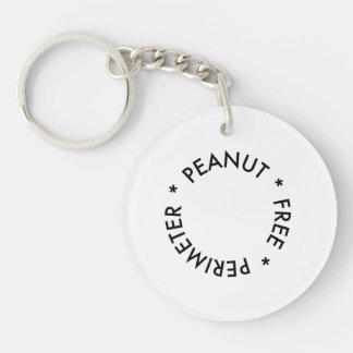 Peanut Free Perimeter Double-Sided Round Acrylic Key Ring