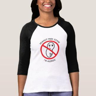 Peanut Free Zone Baseball T-Shirt