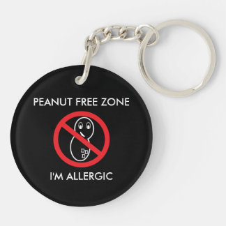 Peanut Free Zone Keychain Keychain