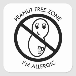 Peanut Free Zone Sticker (set of 6)