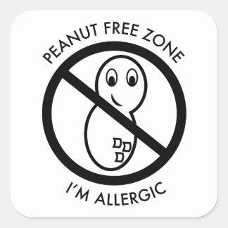Peanut Free Zone Sticker set of 6 Stickers