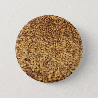 Peanut harvest, Cyprus texture 6 Cm Round Badge