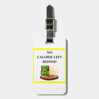 peanut luggage tag