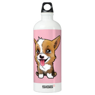 Peanut the corgi to water bottle Pink 1L