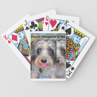 peanut the rescue dog bicycle playing cards