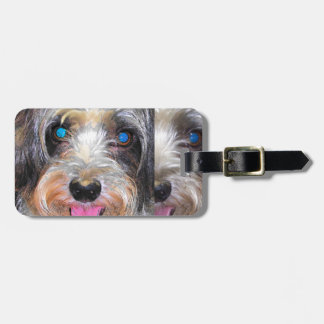 peanut the rescue dog luggage tag
