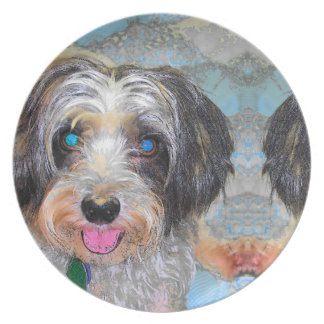 peanut the rescue dog plate