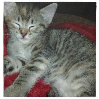 Peapicker kitty napkin