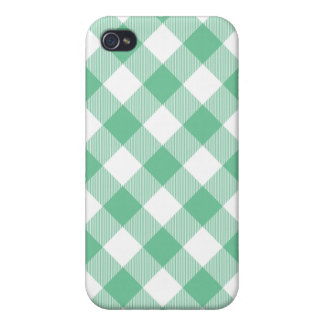 Peapod Green Woven Gingham Iphone 4 Case