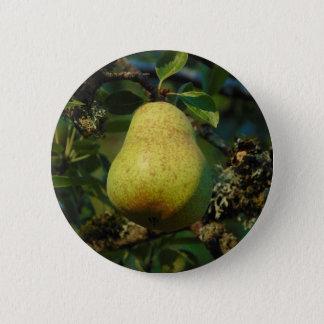 Pear 6 Cm Round Badge