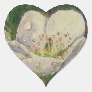 Pear Blossom Dream Heart Sticker