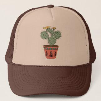 Pear Cactus Bike In Pot With Kokopelli On Bike Pat Trucker Hat