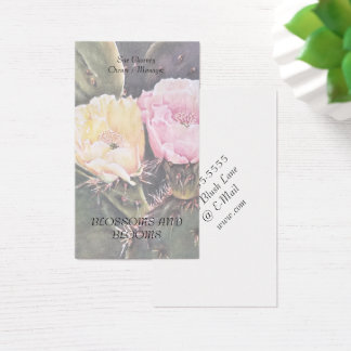 PEAR CACTUS FLOWERS BUSINESS CARD