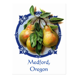 Pear Capitol of the world Medford,Oregon Souvenir. Postcard