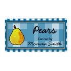 Pear Custom Canning Labels