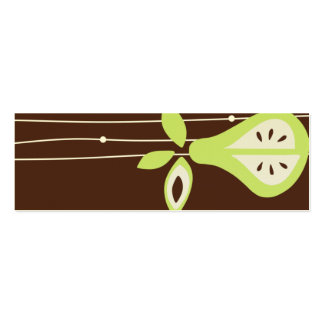 Pear For You Hang Tags Pack Of Skinny Business Cards