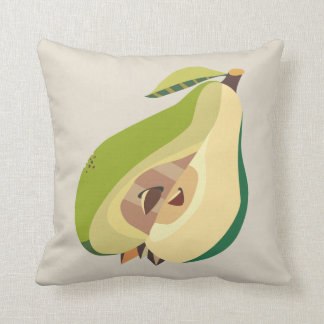 Pear fruit illustration cushion