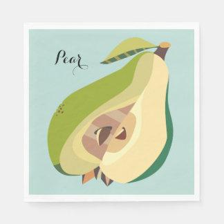 Pear fruit illustration personalize disposable serviette