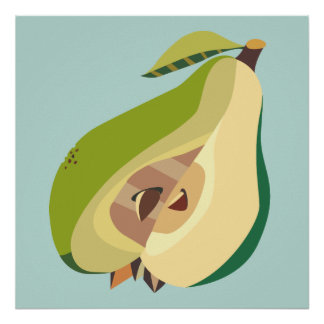 Pear fruit illustration poster