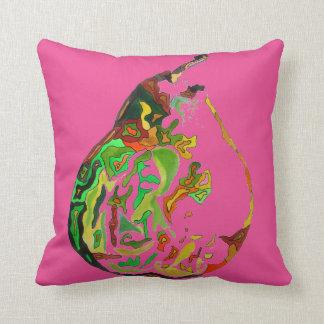 Pear fruit pop art watercolour art illustration cushion