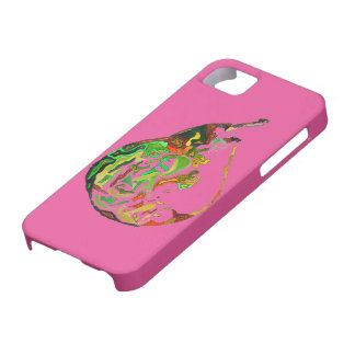 Pear fruit pop art watercolour illustration case for the iPhone 5