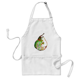 Pear fruit pop art watercolour illustration standard apron