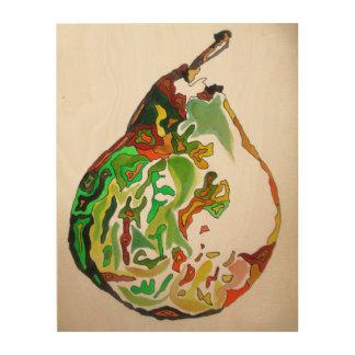 Pear fruit watercolour art illustration