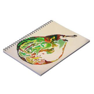 Pear fruit watercolour illustration notebooks
