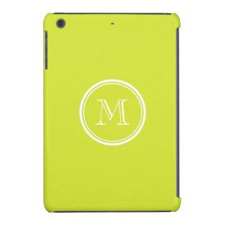 Pear High End Colored Monogram Initial iPad Mini Retina Covers
