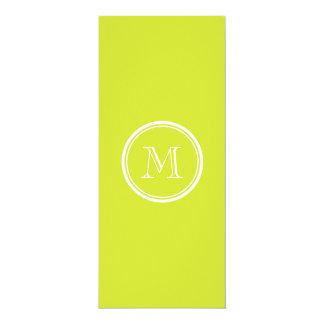 Pear High End Colored Monogram Initial Custom Invites