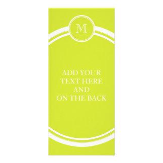 Pear High End Colored Monogram Initial Custom Rack Cards