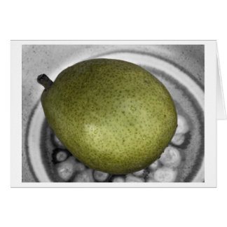 pear off color greeting card