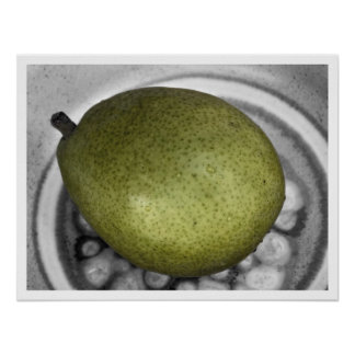 pear off color poster