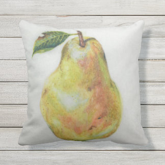 "Pear Outdoor Throw Pillow 16"" x 16"""
