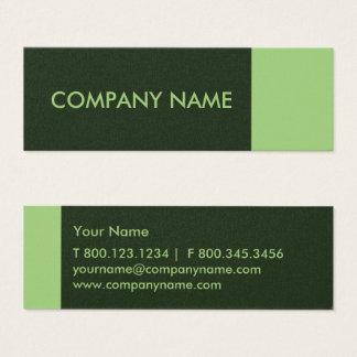 Pear Pine Green Modern Mini Business Card