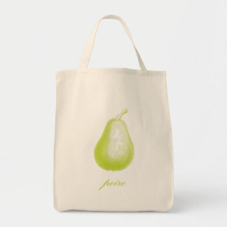 Pear (Poire) Organic Grocery Tote Bag