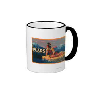 Pear Stock Crate Label Coffee Mug