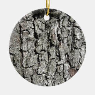 Pear tree bark texture background ceramic ornament