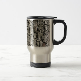 Pear tree bark texture background travel mug