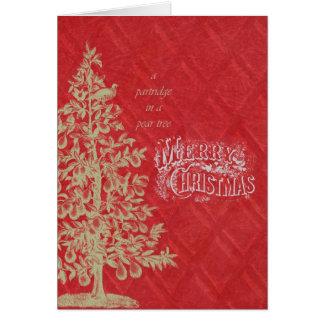 Pear Tree Christmas Greeting Card