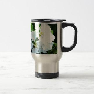 Pear tree flower travel mug
