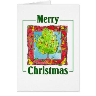 Pear Tree Greeting Card