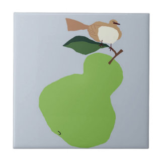 pear tree-grey ceramic tile
