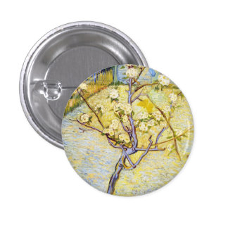 Pear Tree in Blossom Vincent van Gogh fine art Pinback Buttons