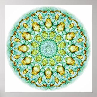 Pear Tree kaleidoscope Poster