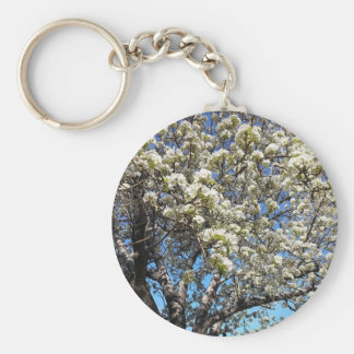 Pear Tree Basic Round Button Key Ring