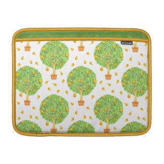 """Pear Tree Pattern Pears Macbook Air 13"""" Horizontal MacBook Sleeve"""