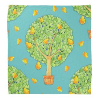 Pear Tree pears teal Bandana