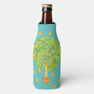 Pear Tree Pears teal Bottle Cooler