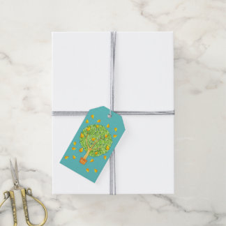 Pear Tree Pears teal Gift Tags